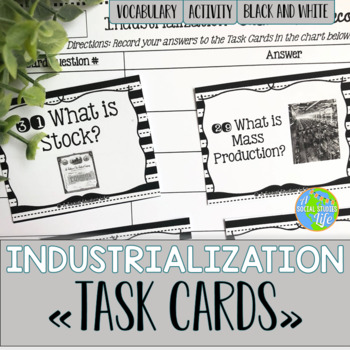 Industrialization and Famous Inventors Task Cards - Black