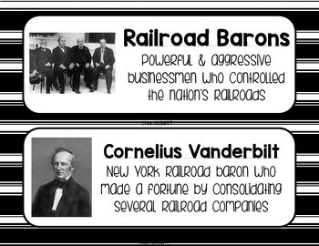 Industrialization and Famous Inventors Word Wall - Black and White