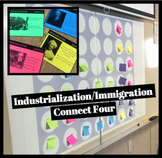Industrialization and Immigration Connect Four Review Game
