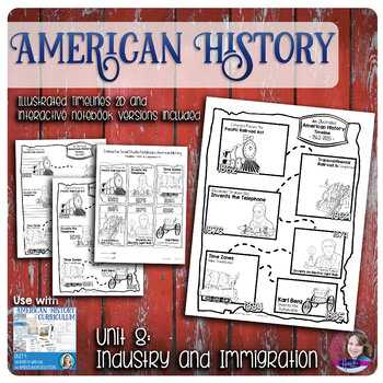 Invention, Industrialization, and Immigration Illustrated Timelines - US History