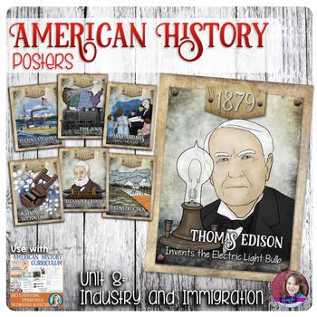 Invention, Industrialization, and Immigration Posters - US History