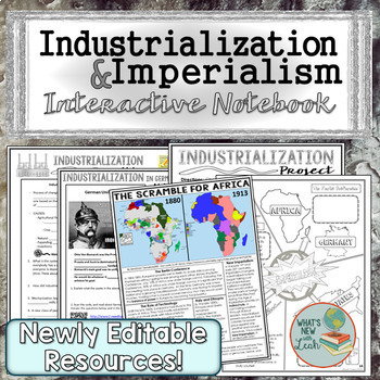 Industrialization and Imperialism Interactive Notebook Complete Unit Bundle