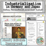 Industrialization in Germany and Japan PowerPoint, Notes,