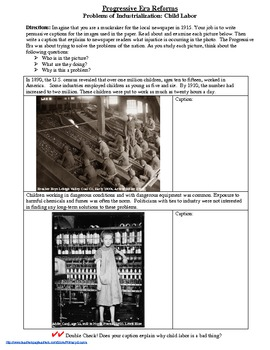 Industrialization & the Progressive Era: Primary Sources for Child Labor