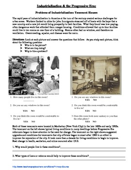 Industrialization & the Progressive Era: Primary Sources for Tenement Houses
