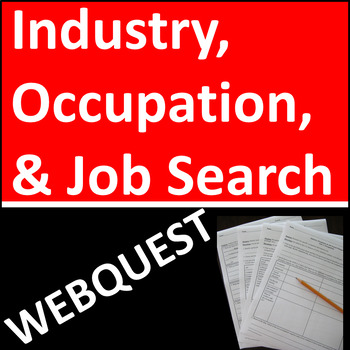 Industry, Occupation, and Job Search Webquest