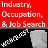 Industry, Occupation, and Job Search Webquest or Distance Learning Activity