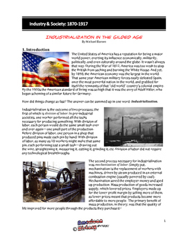 Industry & Society: 1870-1917 Complete Unit