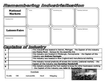 Industry Unit Vocabulary & Answer Key Presentation