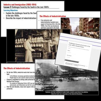 Industry and Immigration Lesson (1865-1914): Challenges by the South