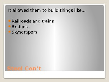 Industry and Railroads