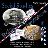 Industry v Agriculture Task Cards~Social Studies~Different