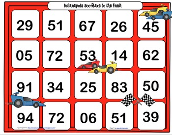 Indy 500 Math Game
