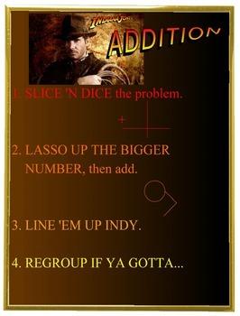 Indy Addition Chart & Math Station 2.NBT.B.5, 2.NBT.B.6, 2