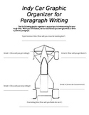 Indy Car Paragraph Writing Graphic Organizer (editable)