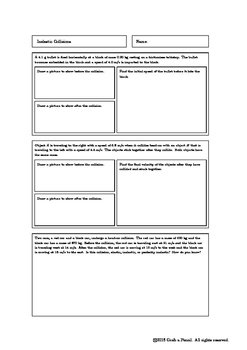Inelastic Collision Worksheets Teaching Resources Tpt