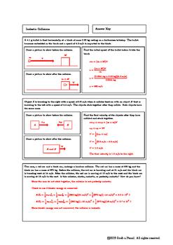 Inelastic Collisions Homework