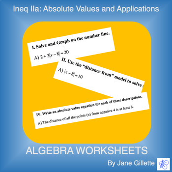 Ineq Iia: Absolute Values and Applications