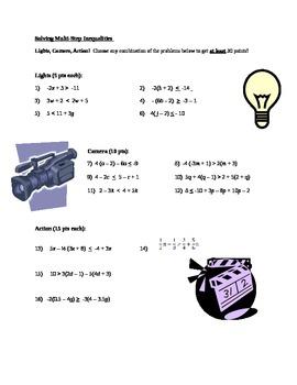 Inequalites - Differentiated Instruction
