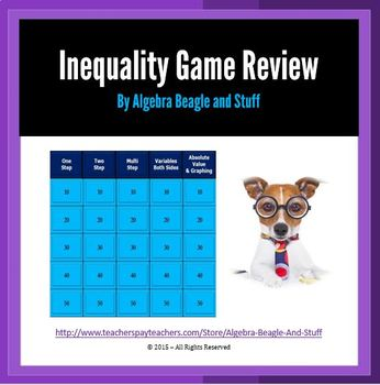 Inequalites Collaborative PowerPoint Game Review