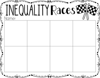 Inequalities {A Math Center Activity}