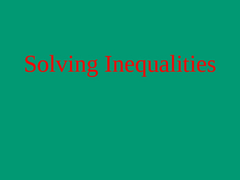 Inequalities 6th Grade Math Common Core