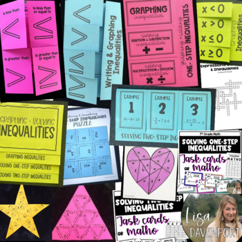 Inequalities (7th Grade Foldable & Activity Bundle)