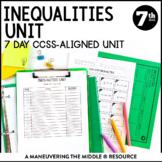 7th Grade Inequalities Unit: 7.EE.4