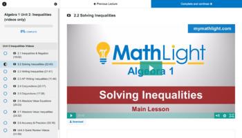 Inequalities   Algebra 1 Unit with Videos