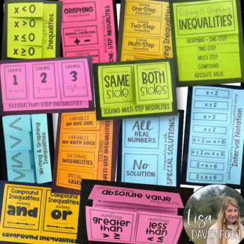 INEQUALITIES Foldables for Interactive Notebooks