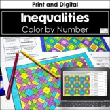 Inequalities Color by Number