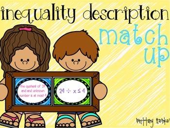 Inequalities Description Match Up