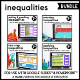 Inequalities - Digital Math Activities for Google Slides (