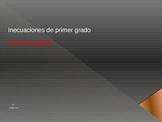 Inequalities -GRAPHIC SOLUTION- IN SPANISH