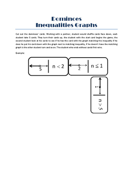 Inequalities Graphs dominoes game