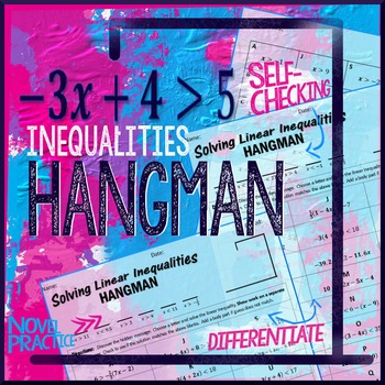 Inequalities Hangman Solve Multi Step Inequalities Hangman Style