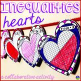Valentine's Day Algebra Linear Inequalities Hearts Pennant