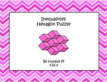 Inequalities Hexagon Puzzle- 6.EE.8