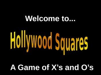 Inequalities Hollywood Squares Game