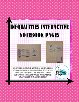 Inequalities Interactive Notebook Pages