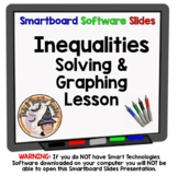 Intro to Inequalities Solving and Graphing Inequality Smartboard Lesson Algebra