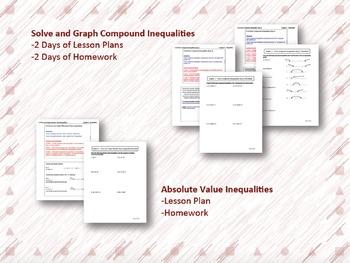 Inequalities Lesson Plan Bundle
