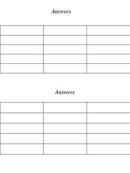 Basic Inequalities - Matching Activity