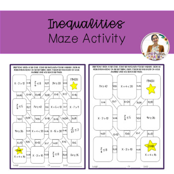 Inequalities Maze Activity
