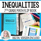 Inequalities Mini Tabbed Flip Book for 7th Grade Math