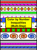 Inequalities (Multi-Step) Color by Number Aztec