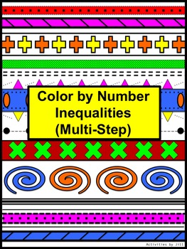 Inequalities (Multi-Step) Color by Number Aztec by Activities by ...