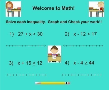 Multiplying Dividing Inequalities Multiply Divide Graph Smartboard with Stations