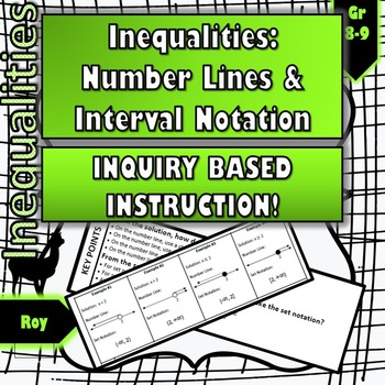 Inequalities No Prep Inquiry Instruction For Number Line And