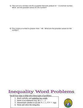 Inequalities Notes